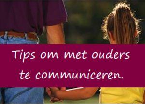 Communnicatie met ouders