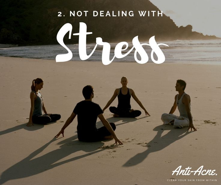 Number 2... Stress has already been talked about a few time and for a quite good reason. Have you ever noticed when your stressed or coming up to an exam your acne gets worse? This is because the cells that produce sebum have receptors for stress hormones. Sebum is the oily substance that mixes with dead skin cells and bacteria to clog the hair follicles, leading to acne. Reduce through exercise, etc.