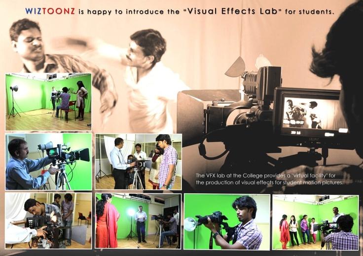 """ WIZTOONZ presents - Visual Effects Lab"" #Multimedia #TopAnimationCollege"
