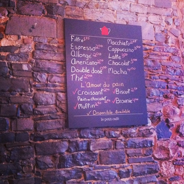 LE PETIT HOTEL. The adorable menu for the hotel's Petit Café. - @patriciagajo- #webstagram