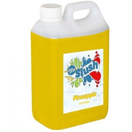 Pinapple Slush Syrup, totally tropical.