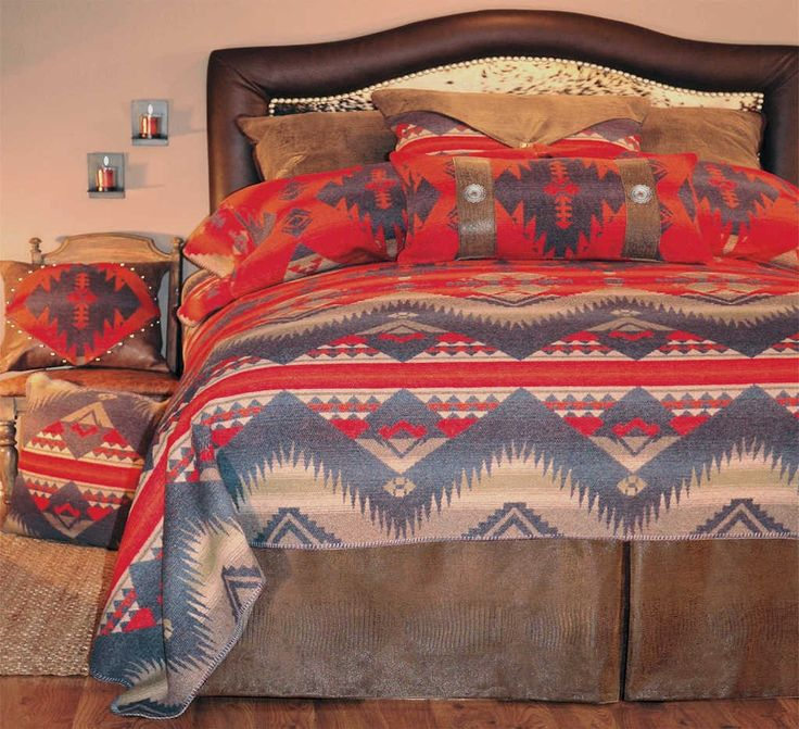 Western bedding cowboy bed sets at lone star western decor for Western style beds