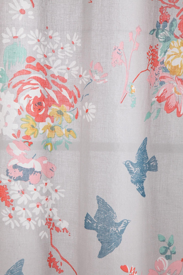 Grey, Peach, Mint, Blue   Could Make It Into A Shower Curtain