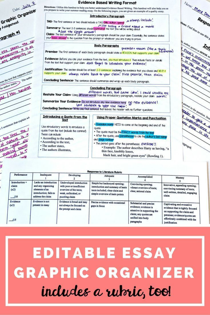17 best images about writing student persuasive essay graphic organizer editable