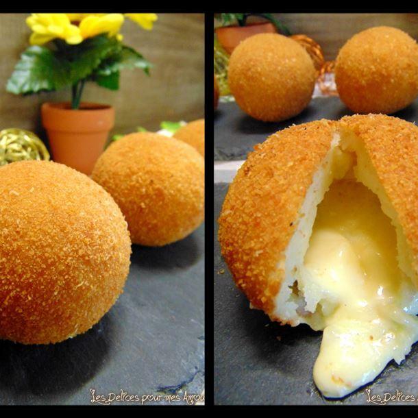 Boulettes de purée fourrées au fromage de ma mamie