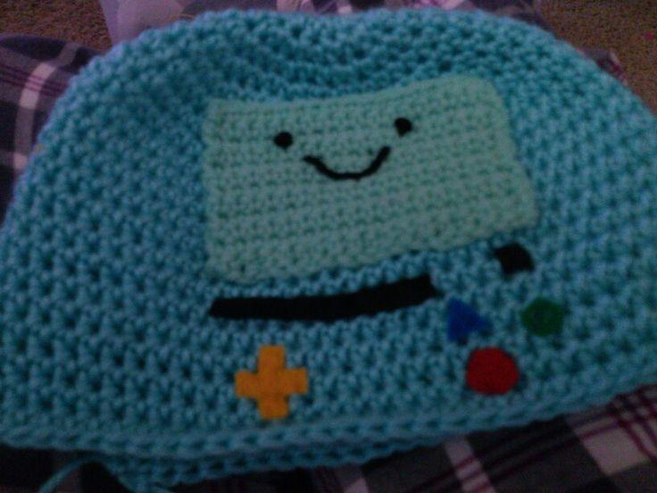 Crochet hat. Adventure Time. BMO (Beemo) Hats ...