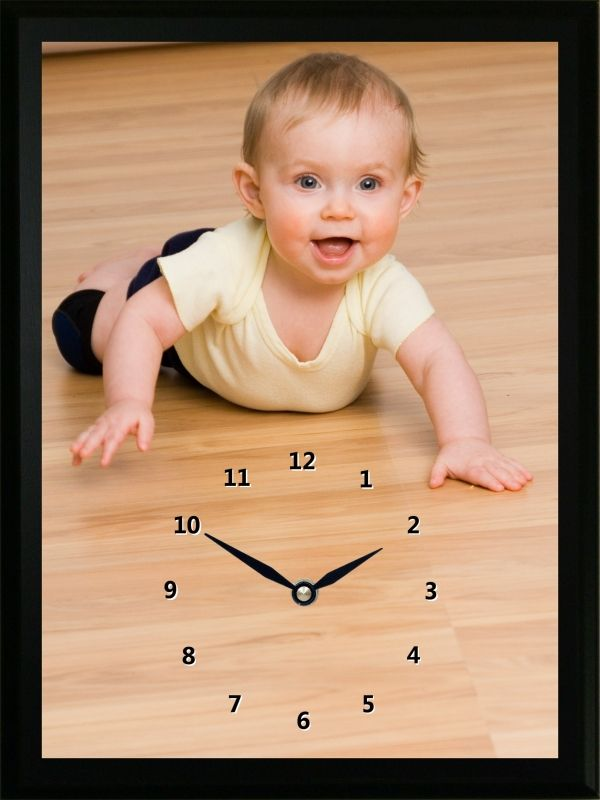 WeeKnees are little knee pads for babies as they learn how to crawl and walk. This WeeKnees Clock shows the WeeKnees in action.