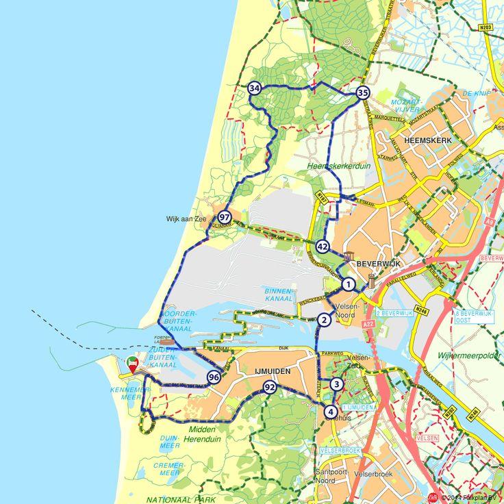 Rondje IJmuiden door de duinen (http://www.route.nl/fietsroutes/138283/Rondje-IJmuiden-door-de-duinen/)