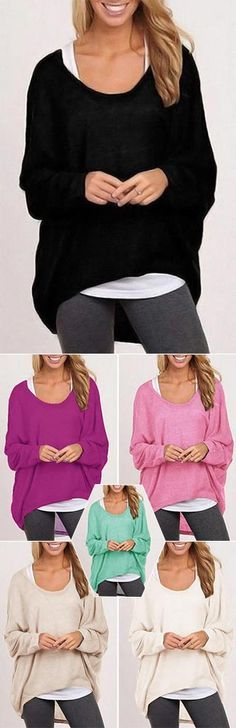 Something for you to write home about. Just enjoy it. After Party Colorful Oversized Top features bats sleeve and oversized style. See the full collection at CUPSHE.COM !