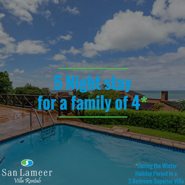 WIN A 5 NIGHT HOLIDAY AT SAN LAMEER VILLA RENTALS THIS WINTER HOLIDAY SEASON IN A 2 BEDROOM SUPERIOR UNIT FOR A FAMILY OF 4.  To enter, send us 5 email addresses of friends, family or colleagues that would like to receive our newsletter and stand a chance to win a 5 night holiday at San Lameer Villa Rentals to the value of R12000. Enter between 7 & 28 June 2017. Final Lucky Draw will be held on Friday 30 June 2017. T&C's Apply! Above prize only redeemable between 1 July 2017 – 31 August…