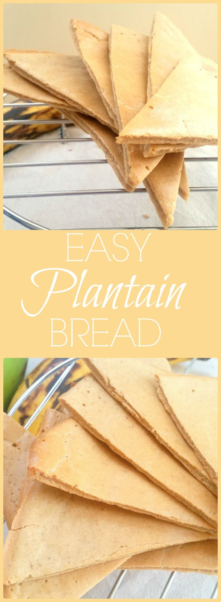Easy Plantain Bread - only THREE ingredients! via @WhittyPaleo