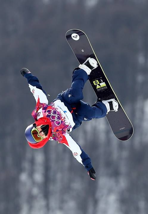Aimee Fuller at The Winter Olympics in Sochi 2014.