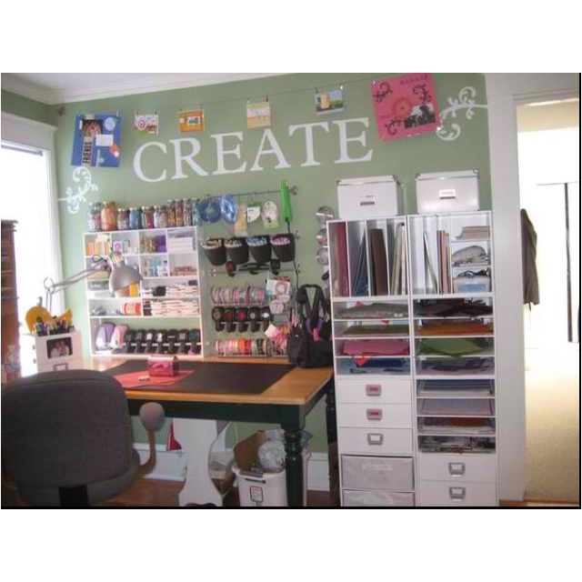 find this pin and more on craft room dreaming by marissanastasi - Craft Desk Ideas