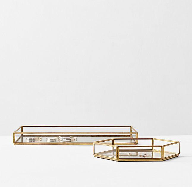 Mirrored Glass Jewelry Tray