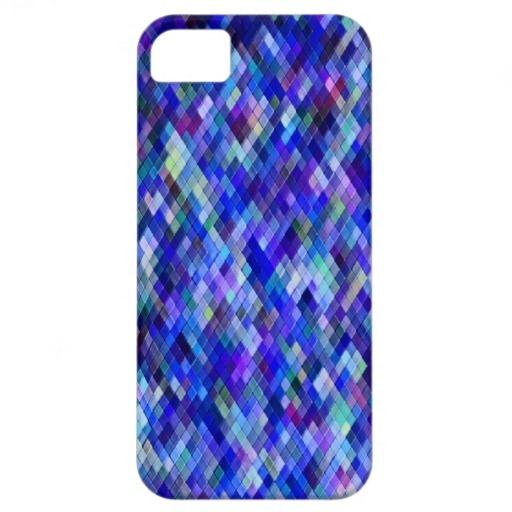 Harlequin _cobalt_102a - by Greta Thorsdottir - iPhone 5 case from Zazzle