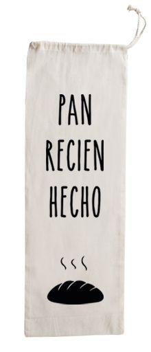 Bolsa de algodón para el pan. Una bolsa de tela con un diseño original y divertido para llevar el pan recién hecho.