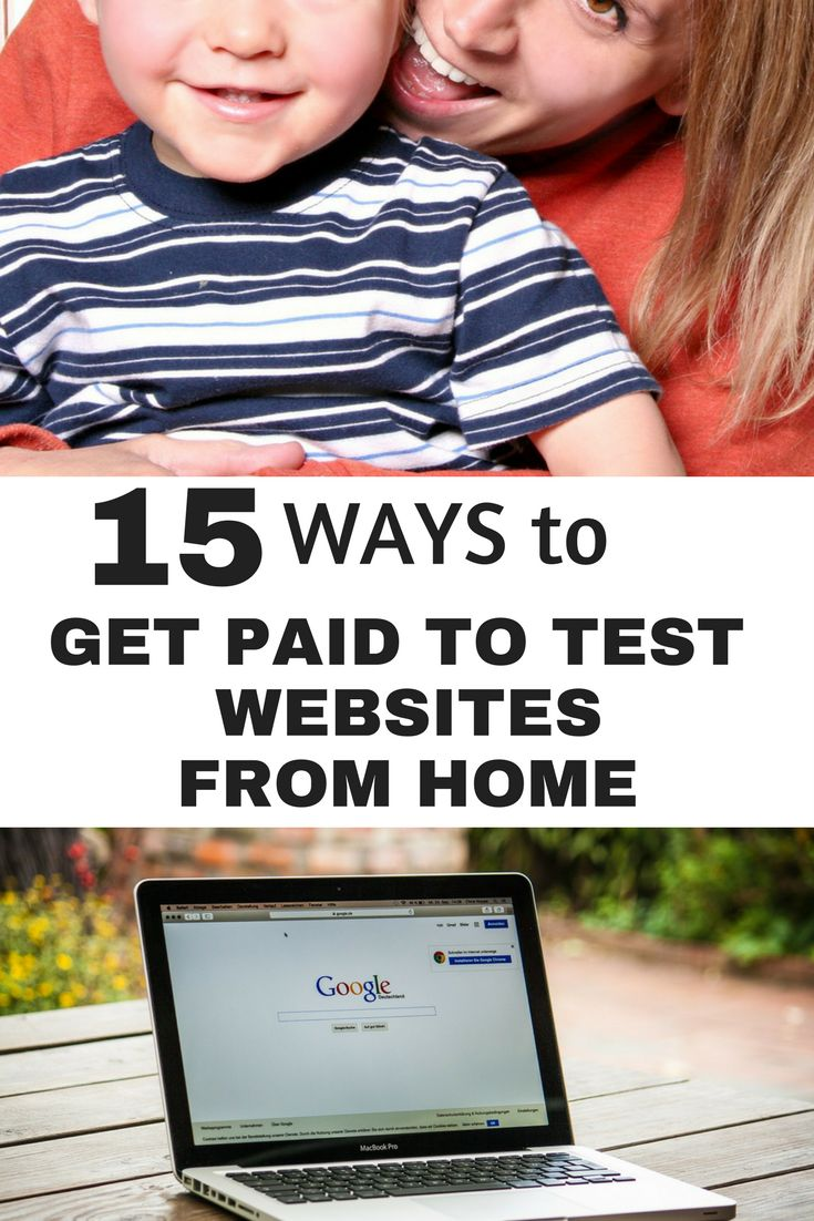 get paid to test websites | make money from home | money making ideas | side hustles for moms | earn extra income online via @https://www.pinterest.com/smartcents/