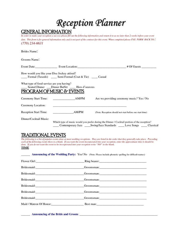 Free Wedding Planner Contract Template Accessoires pour réussir votre mariage sur http://yesidomariage.com