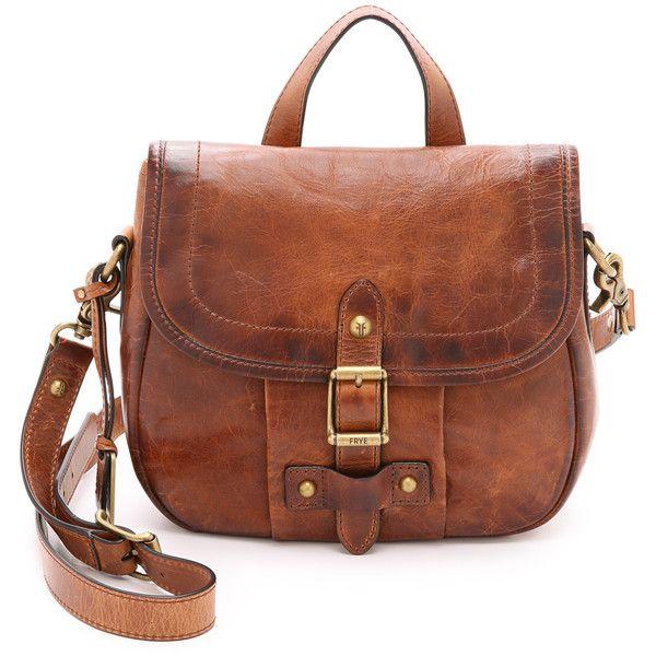 Frye Parker Cross Body Bag (25.700 RUB) ❤ liked on Polyvore featuring bags, handbags, shoulder bags, cognac, leather purse, crossbody purse, brown leather purse, frye handbags and leather shoulder bag