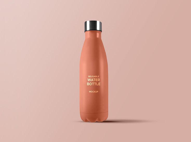 Reusable water bottle mockup free