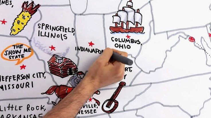 A new twist on a song that names all 50 states and capitals.  awesome video with the drawing to go with it all.  i think the kids will love it.  [Tour the States - Official Music Video]