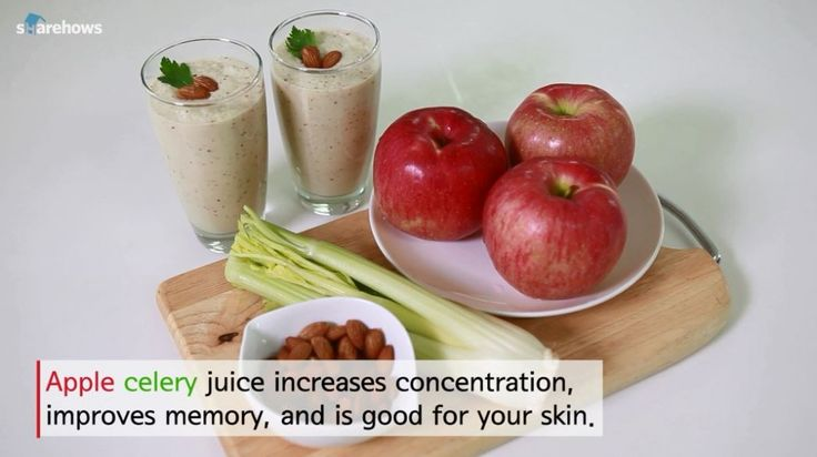 A simple yet delicious juice recipe made from apples, celery, almonds, and milk. http://en.sharehows.com
