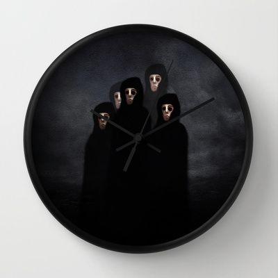 The meeting. Wall Clock by Viviana Gonzalez - $30.00