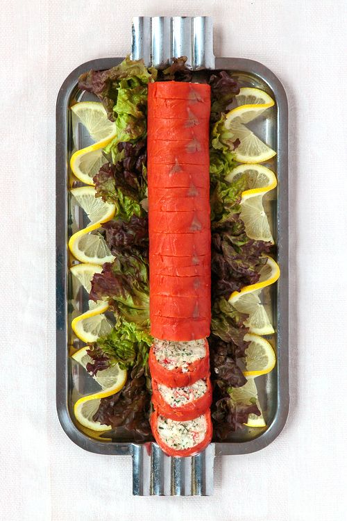 This elaborate appetizer is based on one served at the seafood festival on the Atlantic island of Miquelon.