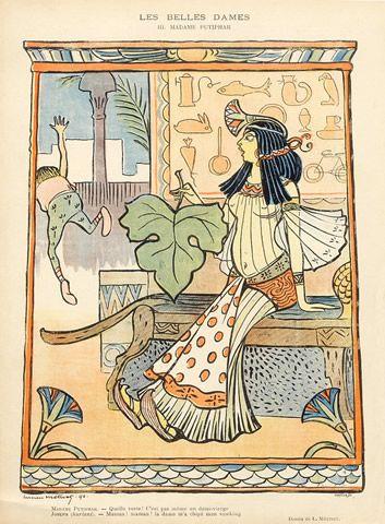 "Lucien Métivet 1896 ""Les Belles Dames"" Madame Putiphar, Mrs. Potiphar, Egyptian"