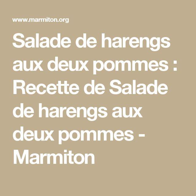 Salade de harengs aux deux pommes : Recette de Salade de harengs aux deux pommes - Marmiton