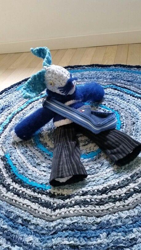 rugyarn rug and a rugyarn toy.