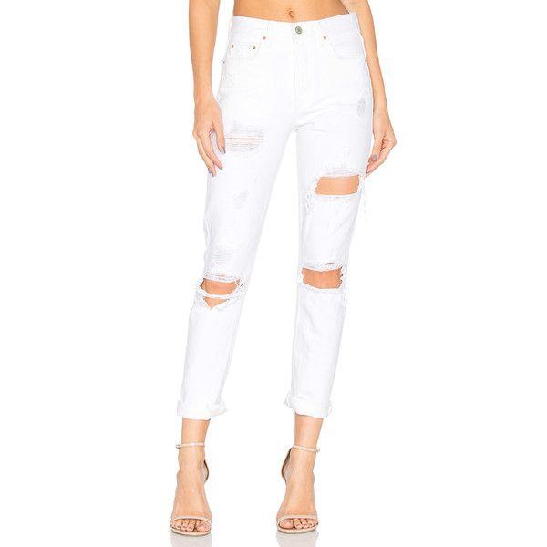 Best 25  White high waisted jeans ideas on Pinterest   White ...