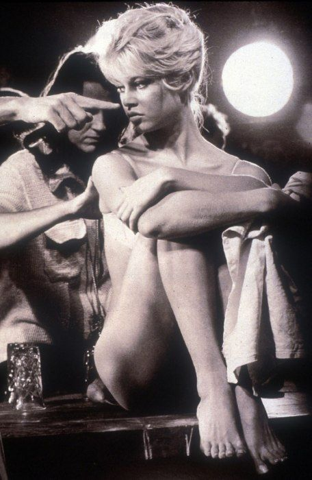 Brigitte Bardot on the set of 'And God Created Woman', 1956.