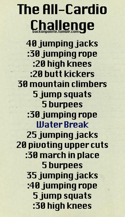 Cardio workout to try