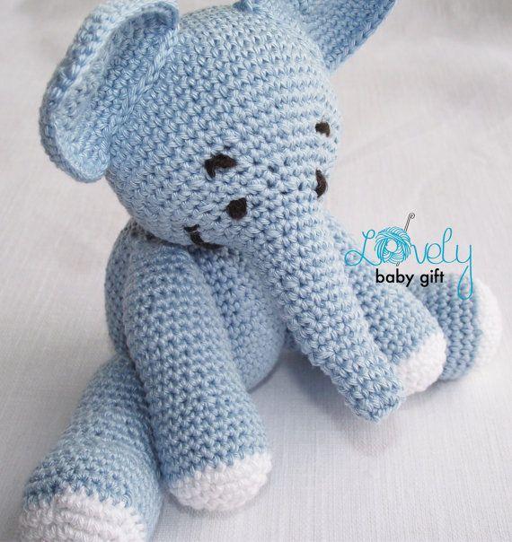 Elephant Crochet Pattern Crochet Elephant Toy by LovelyBabyGift