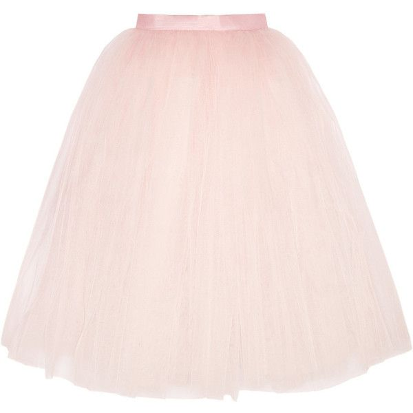 Ballet Beautiful Tulle skirt ($91) ❤ liked on Polyvore featuring skirts, blush, ballet beautiful, pink skirt, pink tulle skirt, tulle skirts and knee length tulle skirt