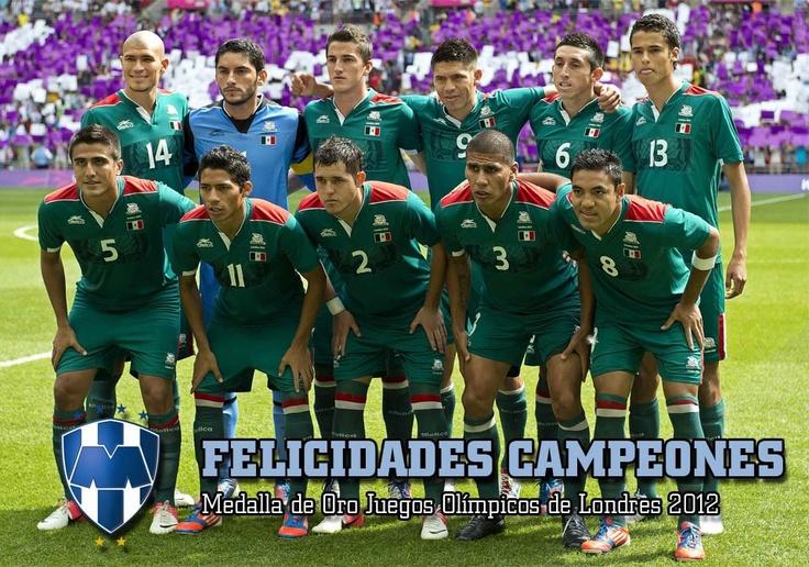 ¡Felicidades Campeones! Hiram Mier, Darvin Chávez y Selección Nacional de México Medalla de Oro en los Juegos Olímpicos de Londres 2012