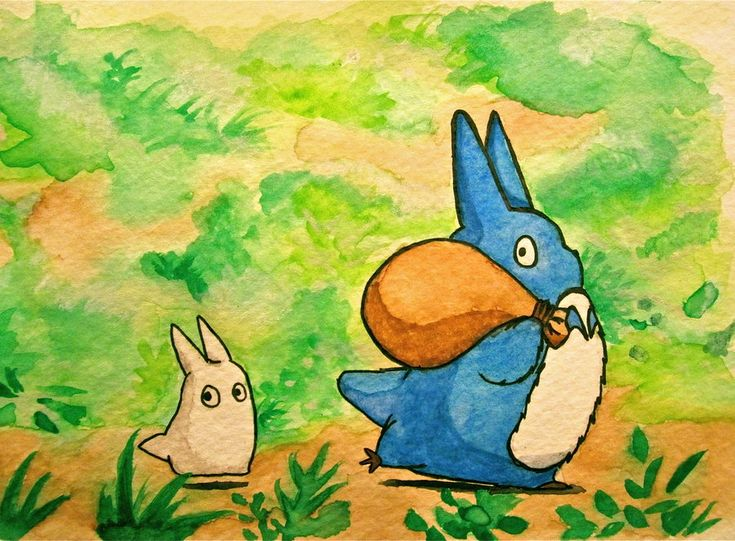 Totoro Forest Spirits by *Trista-Willows on deviantART