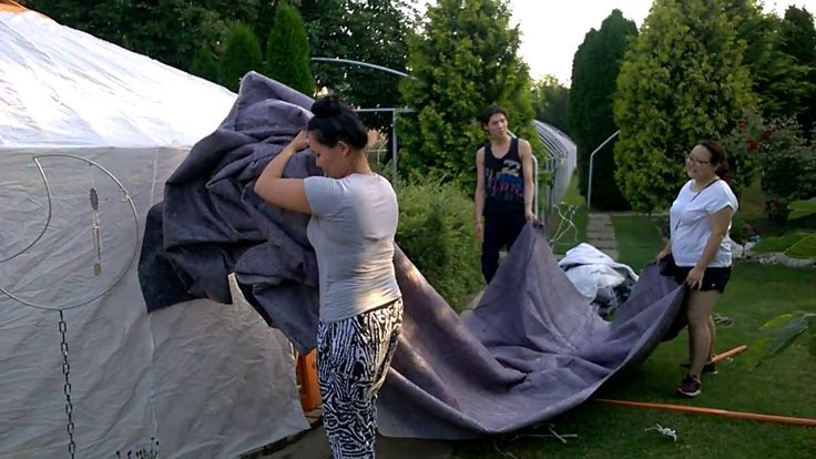 How to Build a Yurt -  Batting Down the Hatches!