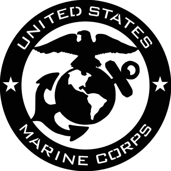 Us Marine Corps Usmc Abstract Metal Wall By