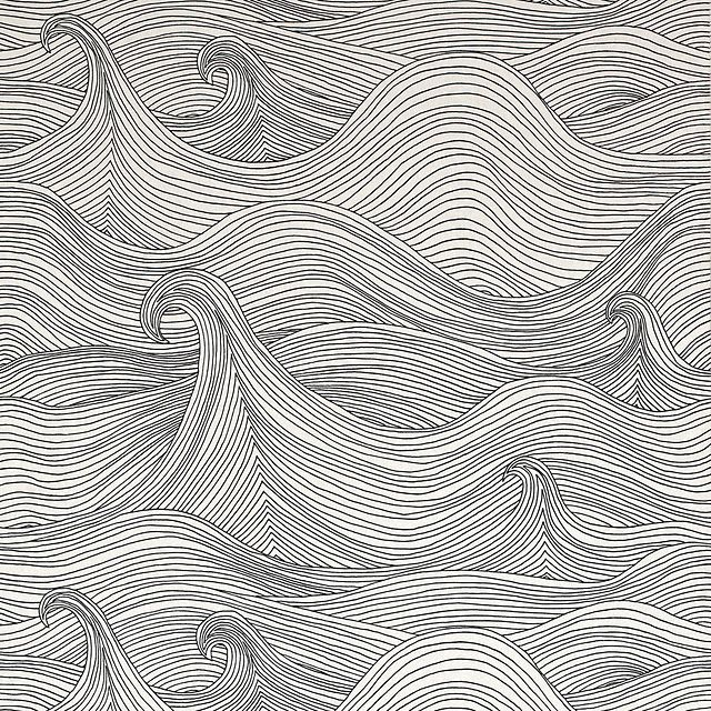 Line Art Waves : Wallpaper design by abigail edwards pattern pinterest