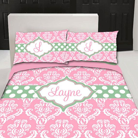 Personalized Custom Damask Bedding Duvet Cover by redbeauty