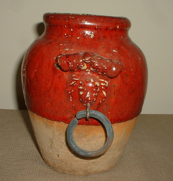 Eye-Catching Brown Tone Stone Clay Jug Vase with Ring Handles - Southwest Decor