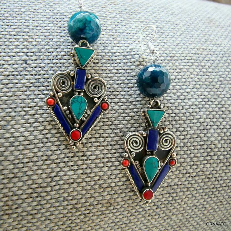 ₹ 700/- Find us @ www.facebook.com/ornaate.. Tibetan earring