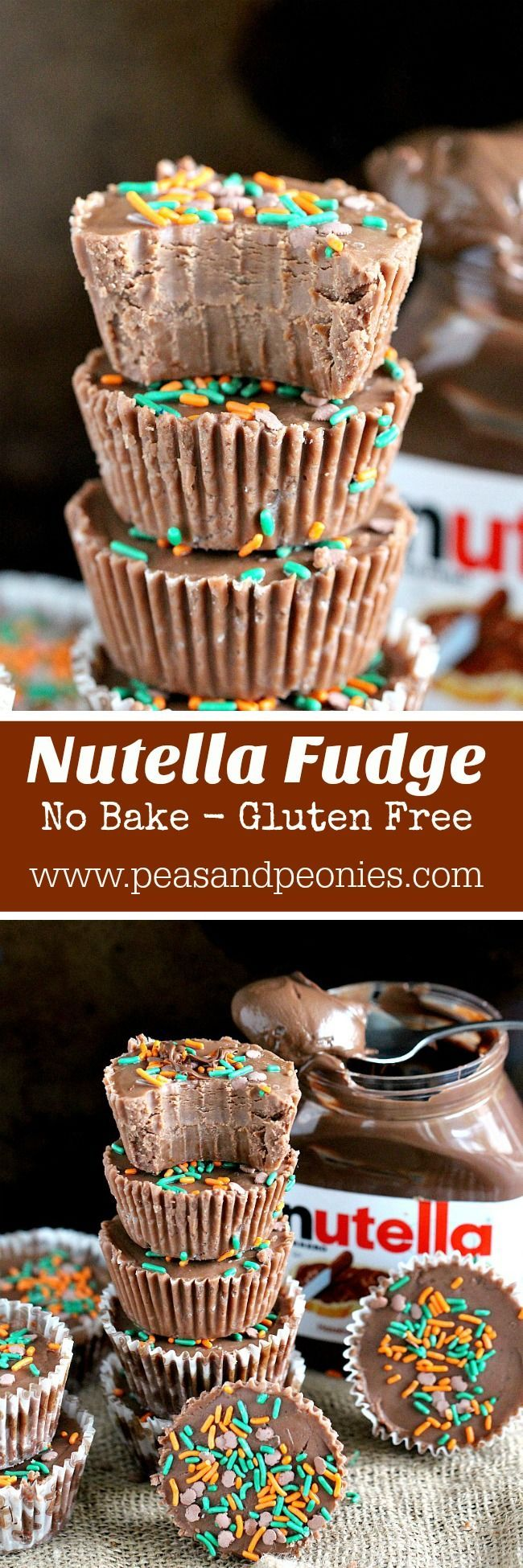 No Bake Nutella Fudge
