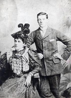 English Photographer - Winston Churchill with his mother, Lady Randolph Churchill