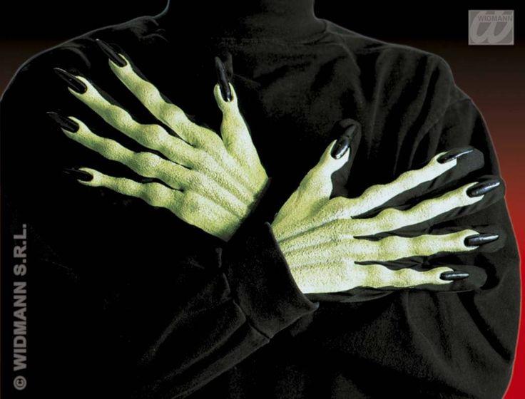 Handschoenen voor heksen met lange vingers en nagels