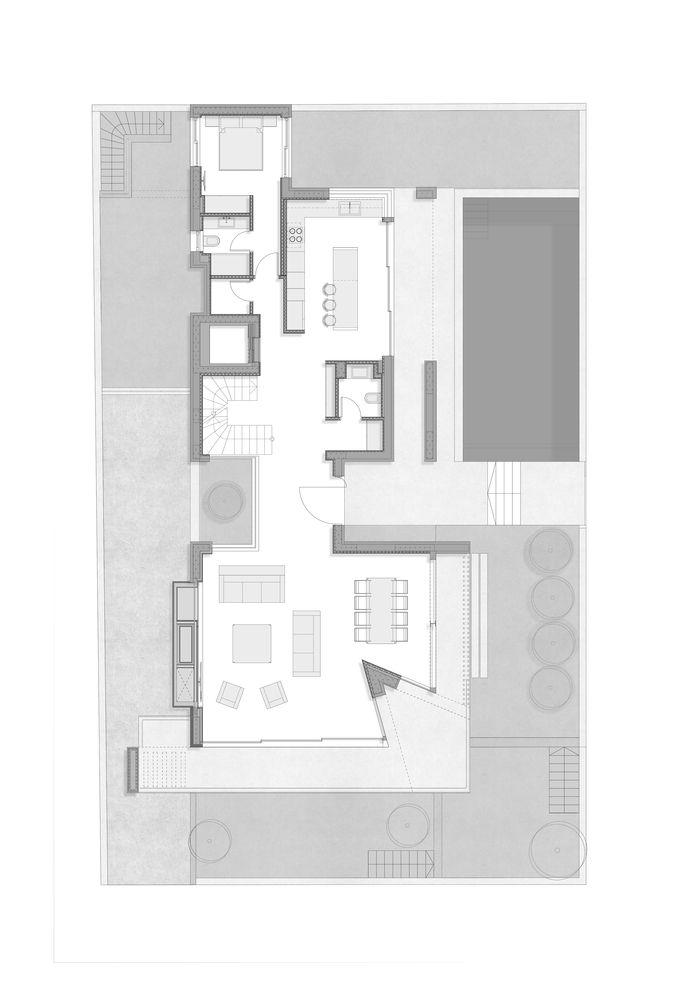 Gallery Of Villa 13 House Parthenios Architects Associates 23 Floor Plans Ground Floor Plan House