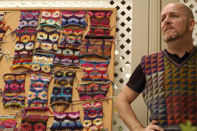 Persian Poppy Workshop (Kaffe Fasset), with Brandon Mably. Image by sweetgeorgia, via Flickr