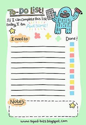 Printable To Do Lists For Kids Free #printable #to-do-list with cute ...